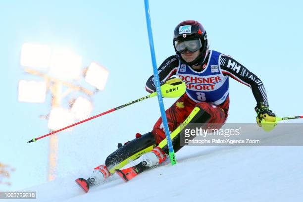 Erin Mielzynski of Canada in action during the Audi FIS Alpine Ski World Cup Women's Slalom on November 17 2018 in Levi Finland