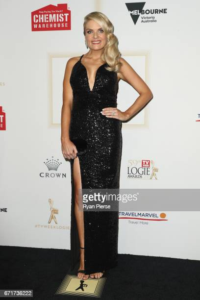 Erin Molan arrives at the 59th Annual Logie Awards at Crown Palladium on April 23 2017 in Melbourne Australia