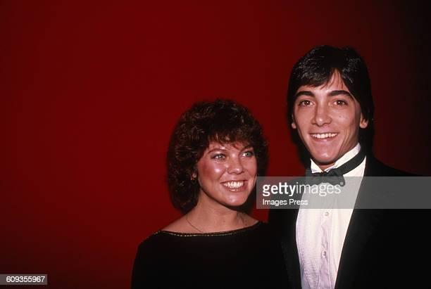 Erin Moran and Scott Baio circa 1982 in New York City.