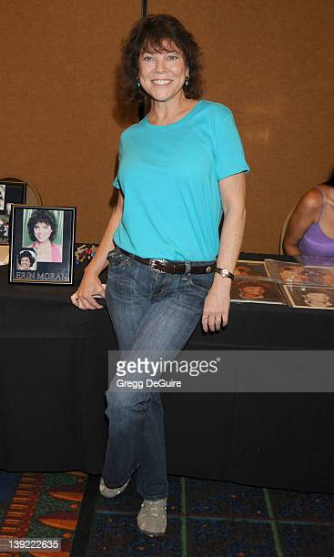 Erin Moran poses at the The Hollywood Collectors & Celebrities Show at the Burbank Airport Marriott Hotel & Convention Center in Burbank, California...