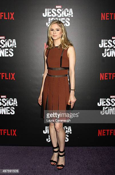 Erin Moriarity attends the 'Jessica Jones' series premiere at Regal EWalk on November 17 2015 in New York City