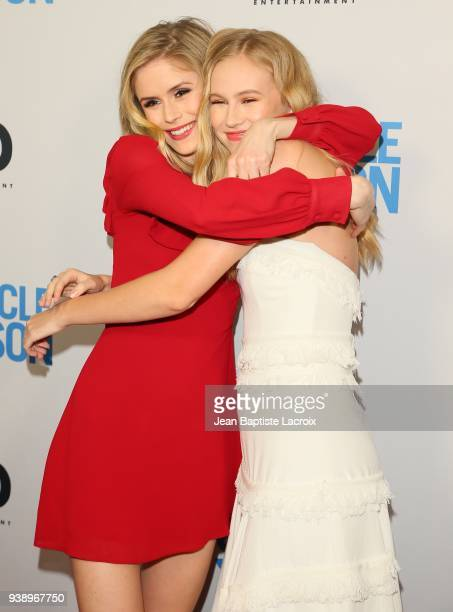 Erin Moriarty and Danika Yarosh attends the world premiere of 'The Miracle Season' on March 27 2018 in West Hollywood California