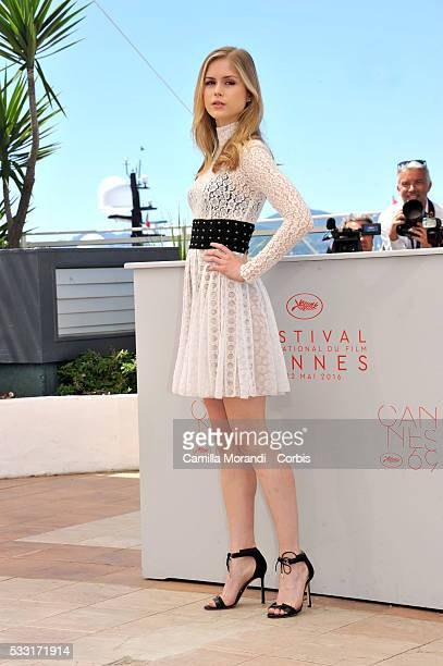 Erin Moriarty attends Blood Father Photocall at the annual 69th Cannes Film Festival at Palais des Festivals on May 21 2016 in Cannes France