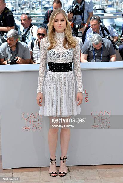 Erin Moriarty attends the Blood Father Photocall during the 69th annual Cannes Film Festival at Palais des Festivals on May 21 2016 in Cannes France