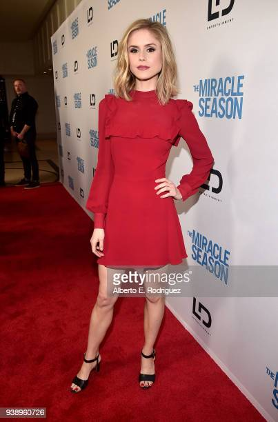 Erin Moriarty attends the Premiere Of Mirror And LD Entertainment's The Miracle Season at The London West Hollywood on March 27 2018 in West...