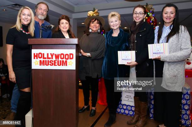 R Erin Murphy Darby Hinton Donelle Dadigan Dawn Wells Dee Wallace And Doloris Mission School Faculty attend the Holiday Tour of the Hollywood Museum...