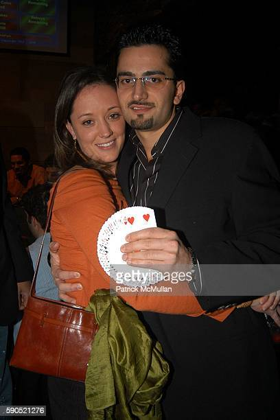 Erin Ness and Antonio Esfandiari attend Lotus and Borgata Hotel Casino Host First Annual NYC Poker Championship at Lotus on January 18 2005 in New...