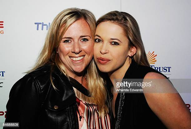 Erin O'Brien and Hadley Poole attend the Primary Wave Music Publishing preGrammy party at SLS Hotel on February 7 2009 in Los Angeles California