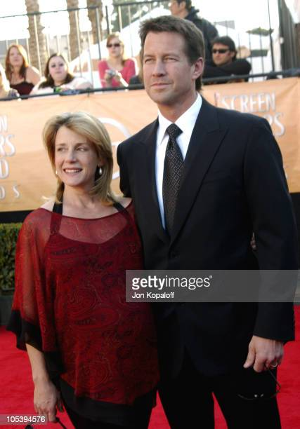 Erin O'Brien and husband James Denton during 2005 Screen Actors Guild Awards - Arrivals at The Shrine in Los Angeles, California, United States.