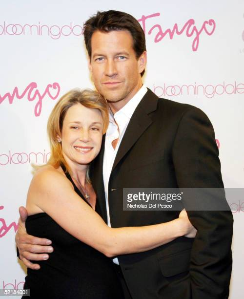 Erin O'Brien and James Denton arrive at the Tango Magazine launch party held at Bloomingdale's on February 11, 2005 in New York City.