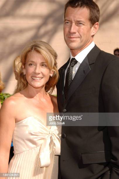 Erin O'Brien and James Denton during 58th Annual Creative Arts Emmy Awards - Arrivals at Shrine Auditorium in Los Angeles, California, United States.