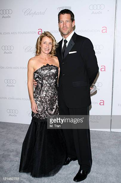 Erin O'Brien Denton and James Denton during 15th Annual Elton John AIDS Foundation Oscar Party at Pacific Design Center in Los Angeles California...