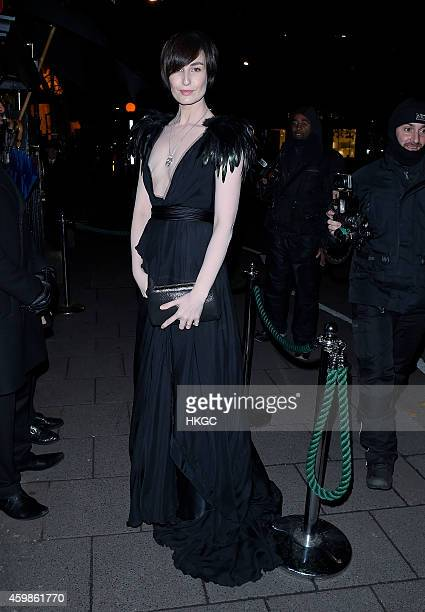 Erin O'Conner attends Chopard Christmas Party at Annabel's member's club in Mayfair on December 2 2014 in London England