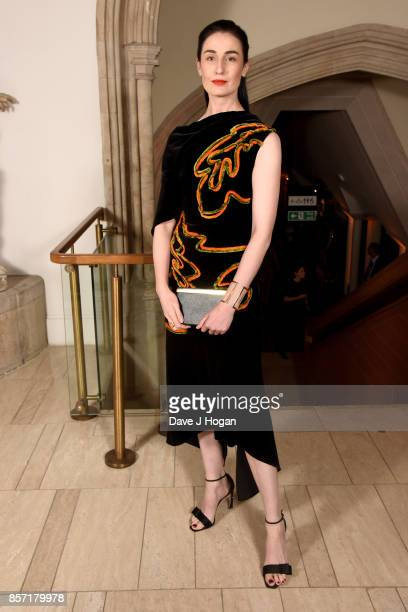 Erin O'Conner attends the BFI Luminous Fundraising Gala at The Guildhall on October 3 2017 in London England