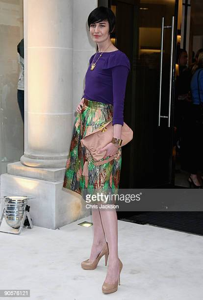 Erin O'Conner attends Vogue and Burberry's cocktail reception as part of 'Fashion's Night Out' on September 10 2009 in London England