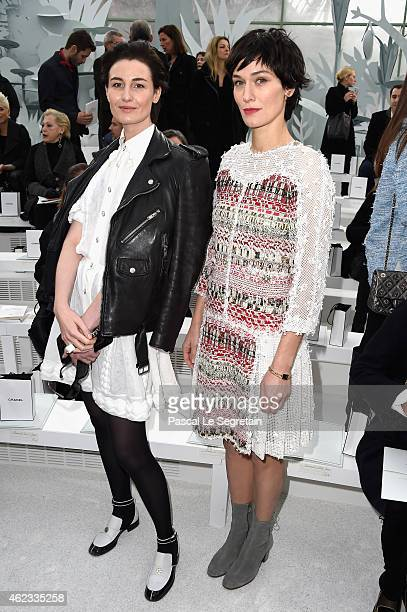 Erin O'Connor and Clotilde Hesme attend the Chanel show as part of Paris Fashion Week Haute Couture Spring/Summer 2015 on January 27 2015 in Paris...