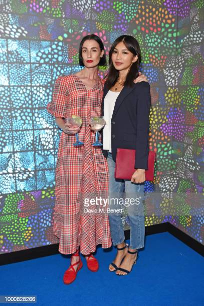 Erin O'Connor and Gemma Chan attend the launch of Bombay Sapphire's 'Canvas' a destination designed to stir creativity and inspire creative...