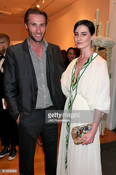 Erin O'Connor and Guest attend the Royal College of Art Summer Fashion Show at the Royal College of Art on the June 12, 2008 in London, England