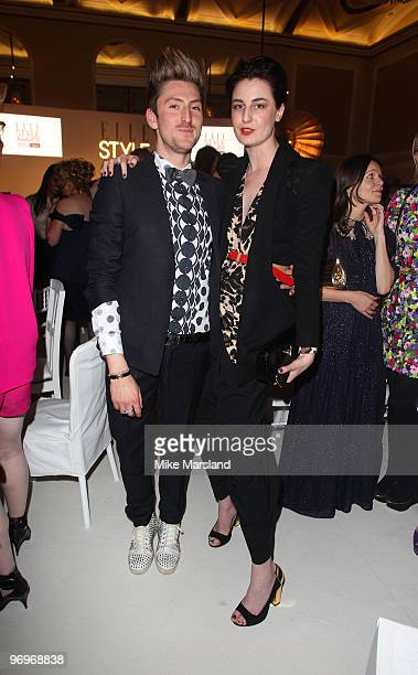 Erin O'Connor and Henry Holland attend the Afterparty for the ELLE Style Awards at Grand Connaught Rooms on February 22 2010 in London England