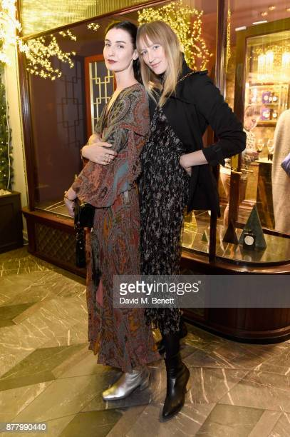 Erin O'Connor and Jade Parfitt attend ATKINSONS 1799 London Store Launch Reception and Dinner at Burlington Arcade on November 23 2017 in London...