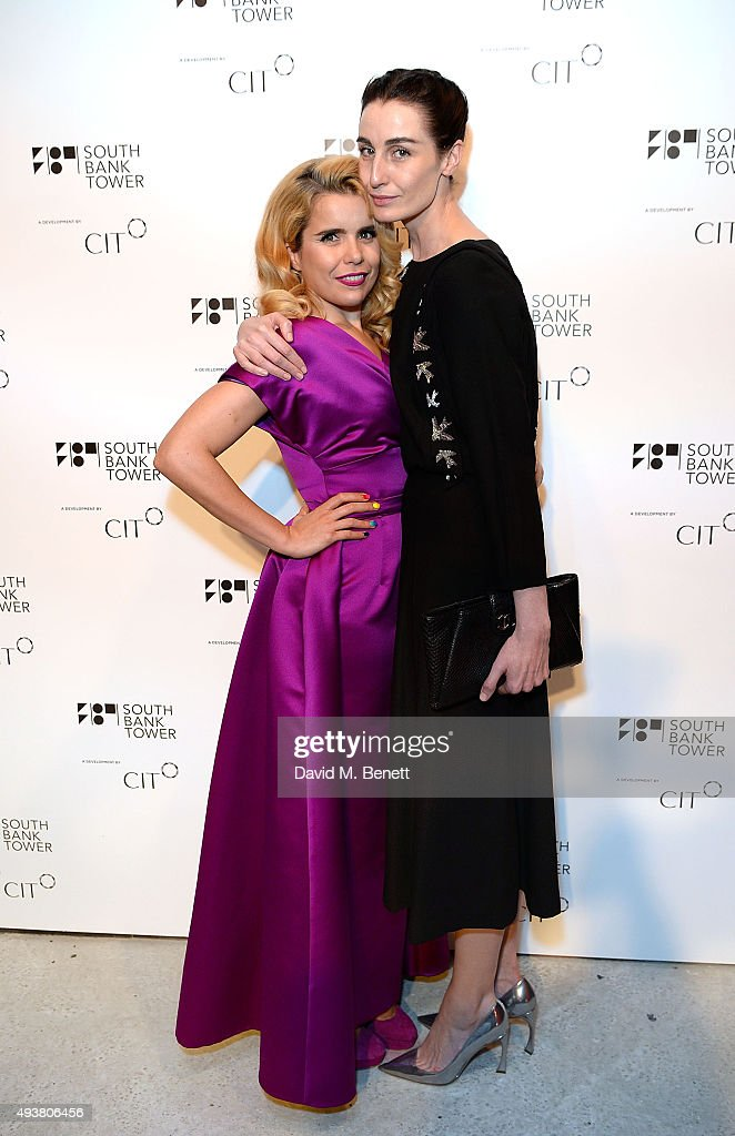 Erin O'Connor and Paloma Faith attend the opening of new landmark 41-storey development, South Bank Tower, with an exclusive event in the penthouse complete with a private performance by Paloma Faith, at South Bank Tower on October 22, 2015 in London, England.