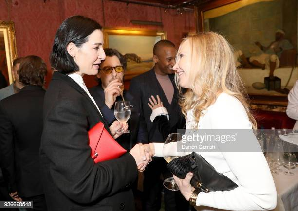 Erin O'Connor and Susan Duffy attend as Edward Enninful and Kate Moss celebrate Giovanni Morelli as the new creative director of Stuart Weitzman with...