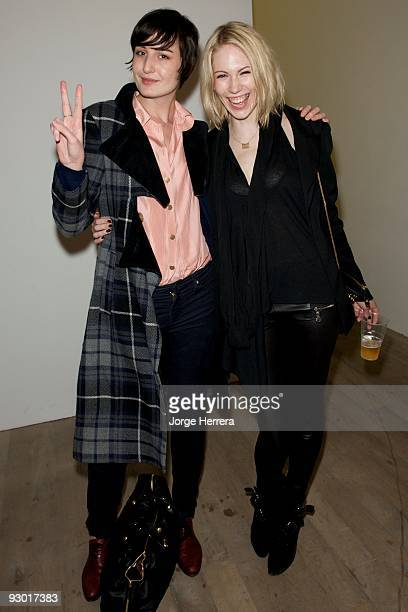 Erin O'Connor and Tuuli Shipster attend Youth Music's 10th Birthday at Phillips de Pury And Company on November 12 2009 in London England