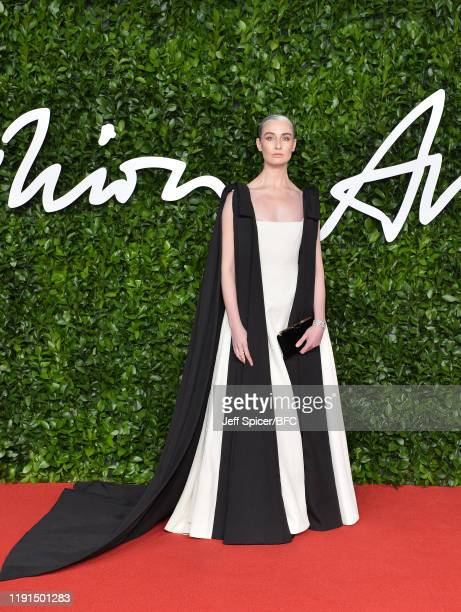Erin O'Connor arrives at The Fashion Awards 2019 held at Royal Albert Hall on December 02 2019 in London England