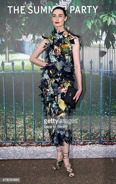 Erin O'Connor arrives at The Serpentine Gallery summer party at The Serpentine Gallery on July 2 2015 in London England