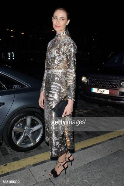 Erin O'Connor at the GQ Awards on September 5 2017 in London England