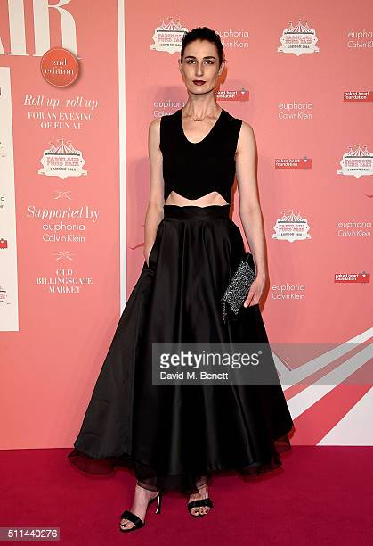 Erin O'Connor at The Naked Heart Foundation's Fabulous Fund Fair in London at Old Billingsgate Market on February 20 2016 in London England