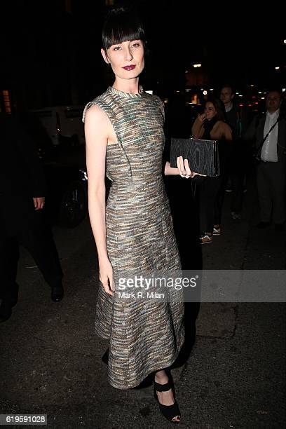 Erin O'Connor attending the Harper's Bazaar Women of the Year Awards on October 31 2016 in London England