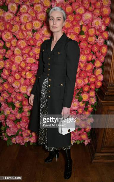 Erin O'Connor attends a private dinner hosted by Michael Kors to celebrate the new Collection Bond St Flagship Townhouse opening on May 9 2019 in...