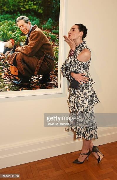 Erin O'Connor attends a private view of 'Vogue 100 A Century of Style' hosted by Alexandra Shulman and Leon Max at the National Portrait Gallery on...