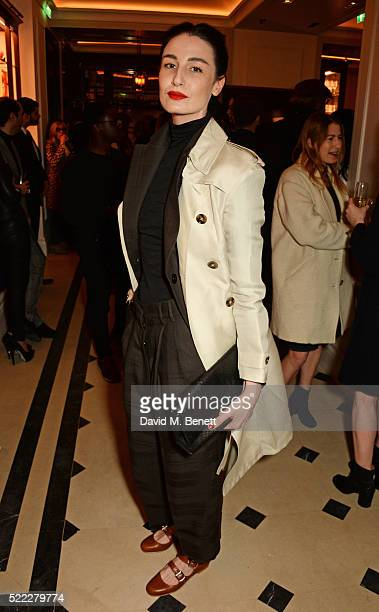 Erin O'Connor attends an event hosted by Naomi Campbell Burberry and TASCHEN to celebrate the launch of 'Naomi' at Burberry's at Thomas's on April 18...
