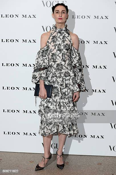 Erin O'Connor attends at Vogue 100 A Century Of Style at the National Portrait Gallery on February 9 2016 in London England