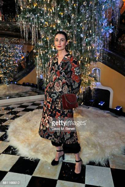 Erin O'Connor attends Claridge's Christmas Tree Party 2017 designed by Karl Lagerfeld on November 28 2017 in London United Kingdom