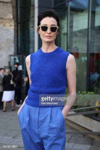 Erin O'Connor attends COS at the Roundhouse, Camden during London Fashion Week September 2021 on September 21, 2021 in London, England.