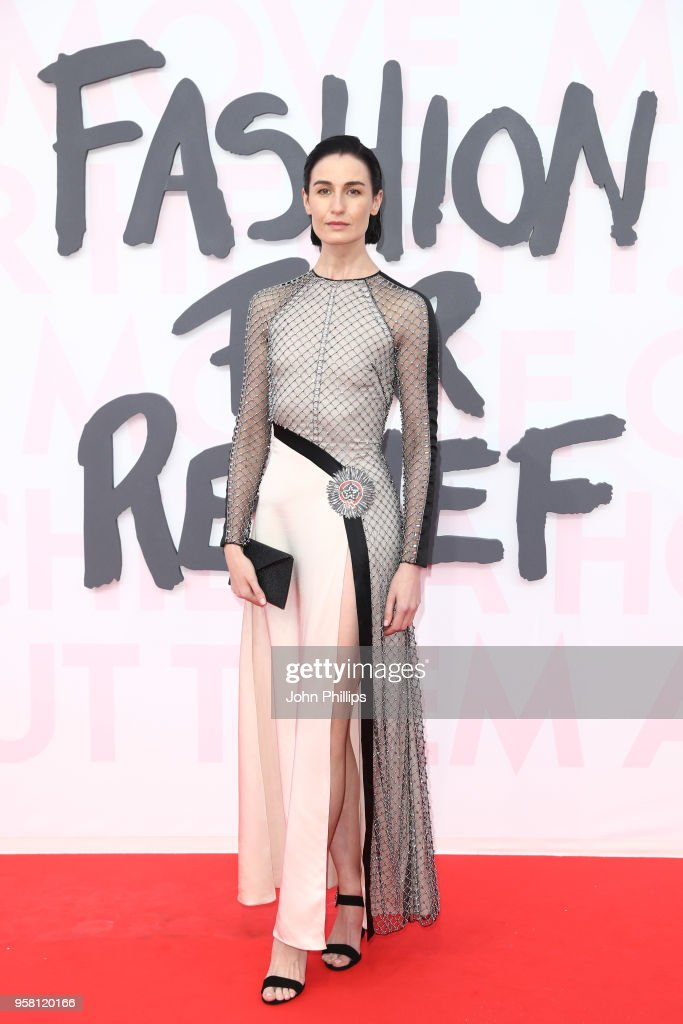 Erin O'Connor attends Fashion for Relief Cannes 2018 during the 71st annual Cannes Film Festival at Aeroport Cannes Mandelieu on May 13, 2018 in Cannes, France.
