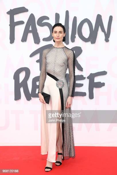 Erin O'Connor attends Fashion for Relief Cannes 2018 during the 71st annual Cannes Film Festival at Aeroport Cannes Mandelieu on May 13 2018 in...