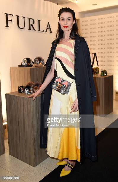 Erin O'Connor attends private dinner to celebrate Furla's Brompton Road Flagship at The Serpentine Gallery on February 1 2017 in London England