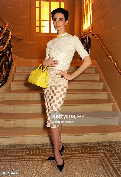 Erin O'Connor attends the Alexandra Shulman and Vogue Dinner in Honour of Michael Kors at the Cafe Royal on April 25 2013 in London England