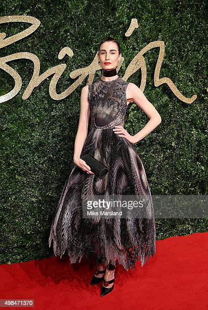 Erin O'Connor attends the British Fashion Awards 2015 at London Coliseum on November 23 2015 in London England