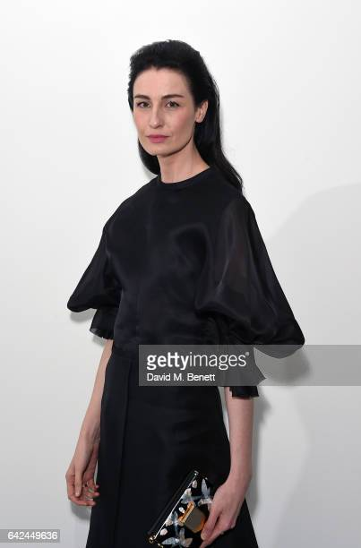 Erin O'Connor attends the British Fashion Council Fashion Film x River Island film screening and cocktail party at The Serpentine Sackler Gallery on...