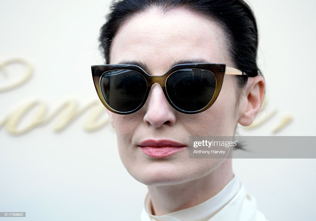Erin O'Connor attends the Burberry show during London Fashion Week Autumn/Winter 2016/17 at Kensington Gardens on February 22, 2016 in London, England.