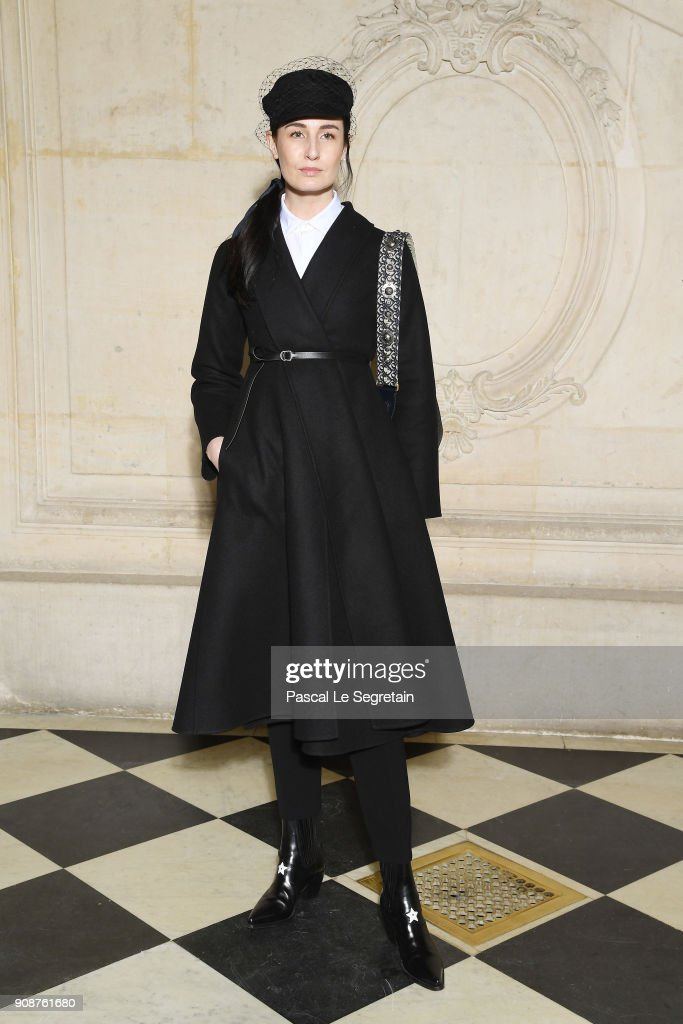 Erin O'Connor attends the Christian Dior Haute Couture Spring Summer 2018 show as part of Paris Fashion Week on January 22, 2018 in Paris, France.