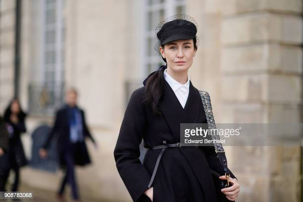 Erin O'Connor attends the Christian Dior Haute Couture Spring Summer 2018 show as part of Paris Fashion Week on January 22 2018 in Paris France