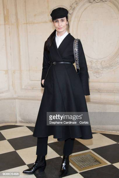 Erin O'Connor attends the Christian Dior Haute Couture Spring Summer 2018 show as part of Paris Fashion Week January 22 2018 in Paris France