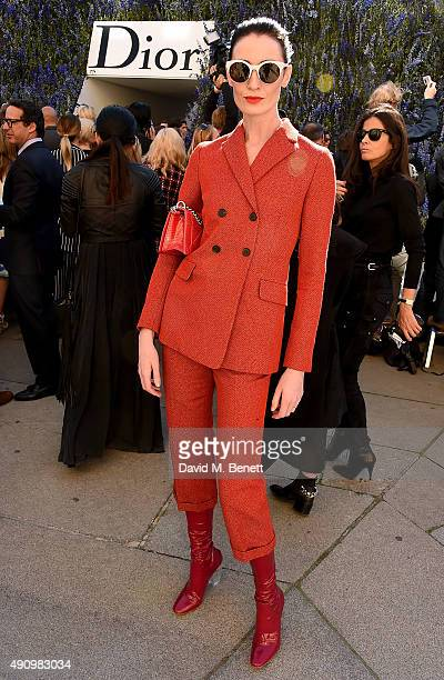 Erin O'Connor attends the Christian Dior show as part of the Paris Fashion Week Womenswear Spring/Summer 2016 on October 2 2015 in Paris France