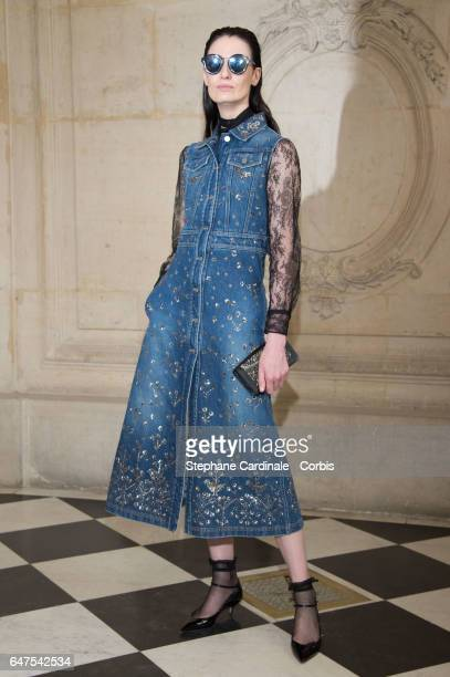 Erin O'Connor attends the Christian Dior show as part of the Paris Fashion Week Womenswear Fall/Winter 2017/2018 on March 3 2017 in Paris France